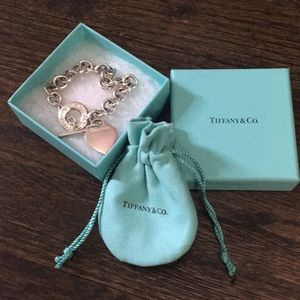 Authentic Tiffany & Co Classic Heart Charm Toggle